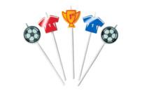 Candles - Football - Sticks - Set, 5 parts