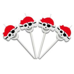 Kerzen - Piraten - Sticks - Set, 4-teilig