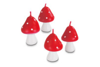 Candles - Fly agaric - Set, 4 parts