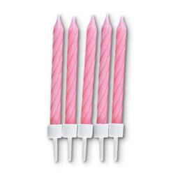 Kerzen - Geburtstag - mit Halter - 10 Stück