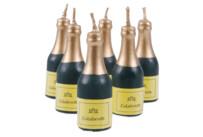 Candles - Champagne bottle - Set, 6 parts