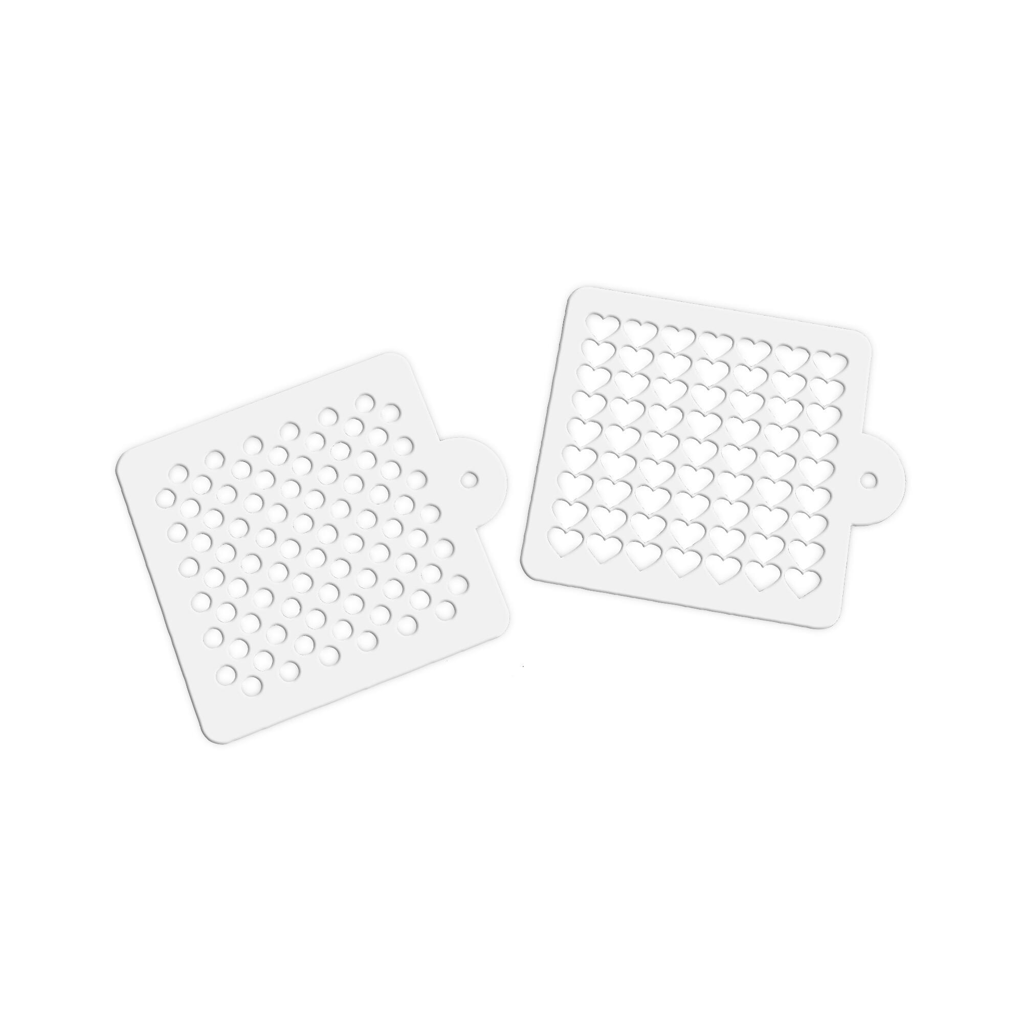Decorative stencil - Heart & Dot - Set, 2 parts