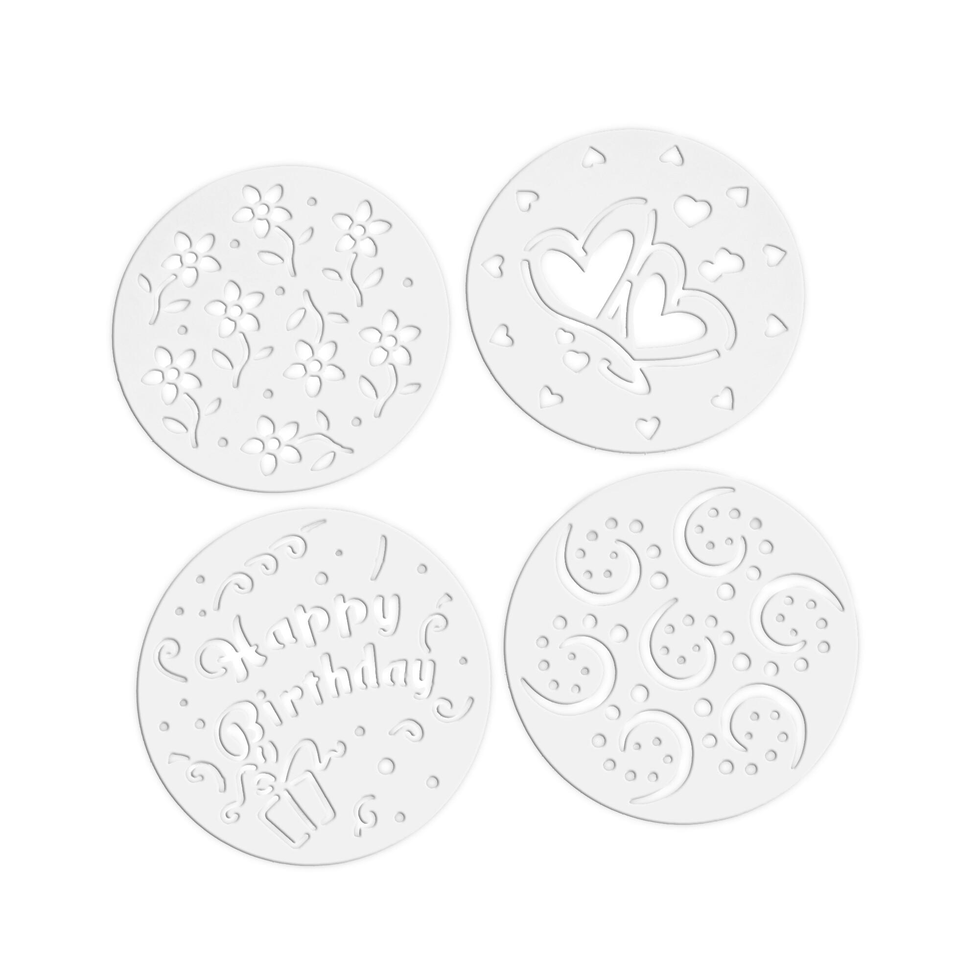 Dekor-Schablonen - Party-Mix - Set, 4-teilig