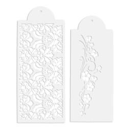 Dekor-Schablonen - Blumenranke - Set, 2-teilig