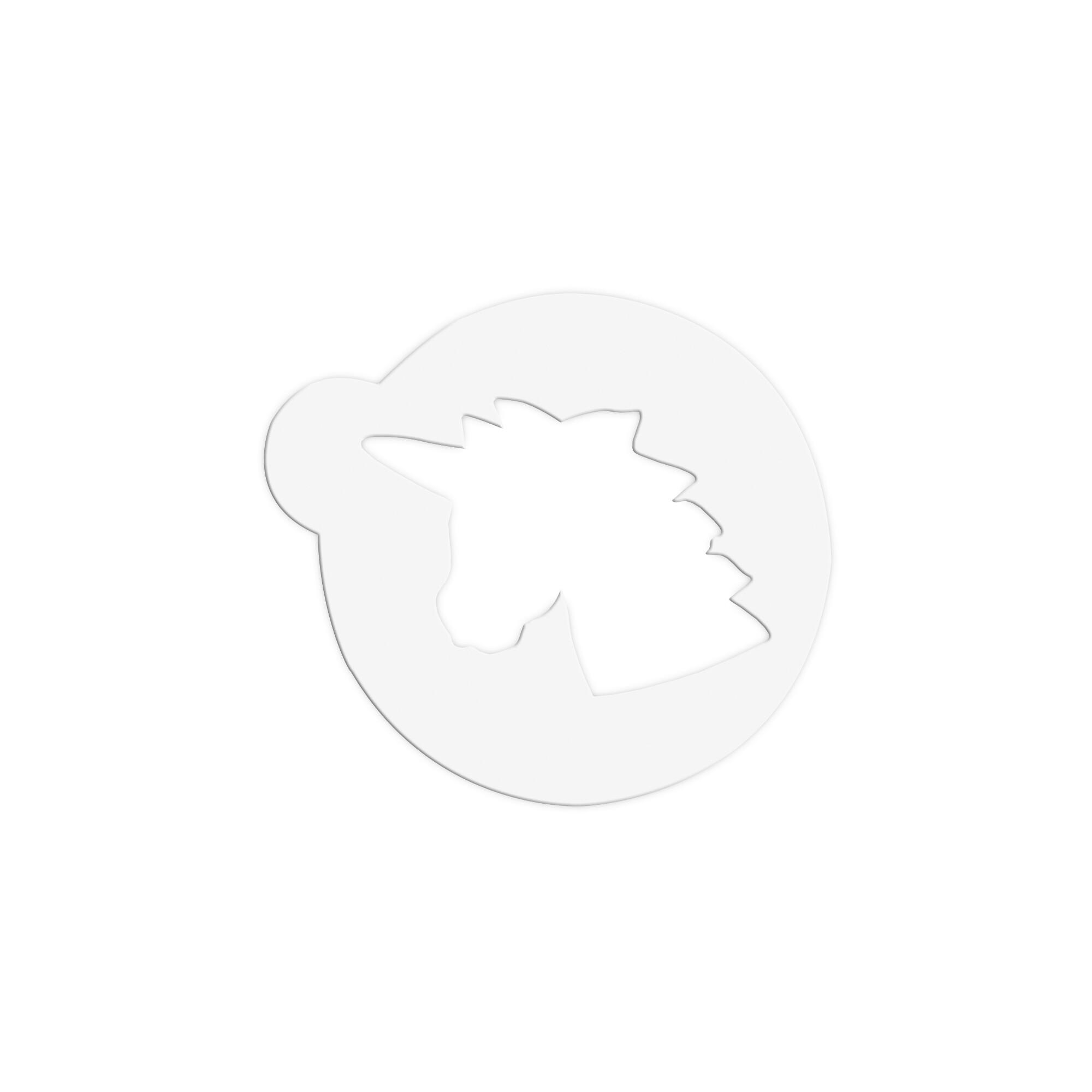 Decorative stencil - Unicorn Head