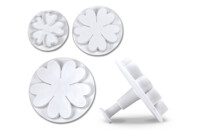 Professional cutter with ejector - Waterlilies & Carnations - Set, 3 parts