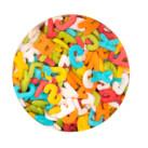 Edible sprinkle decoration - Letter Mix