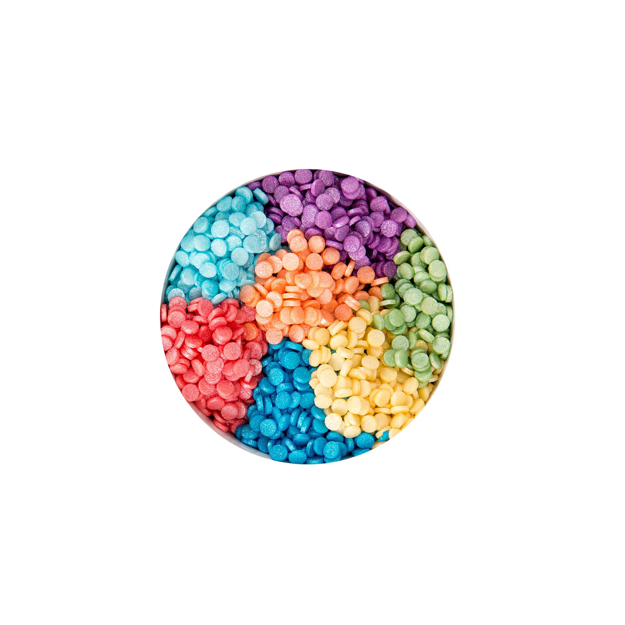 Essbarer Streudekor - Einhorn / Regenbogen - 7 Sticks