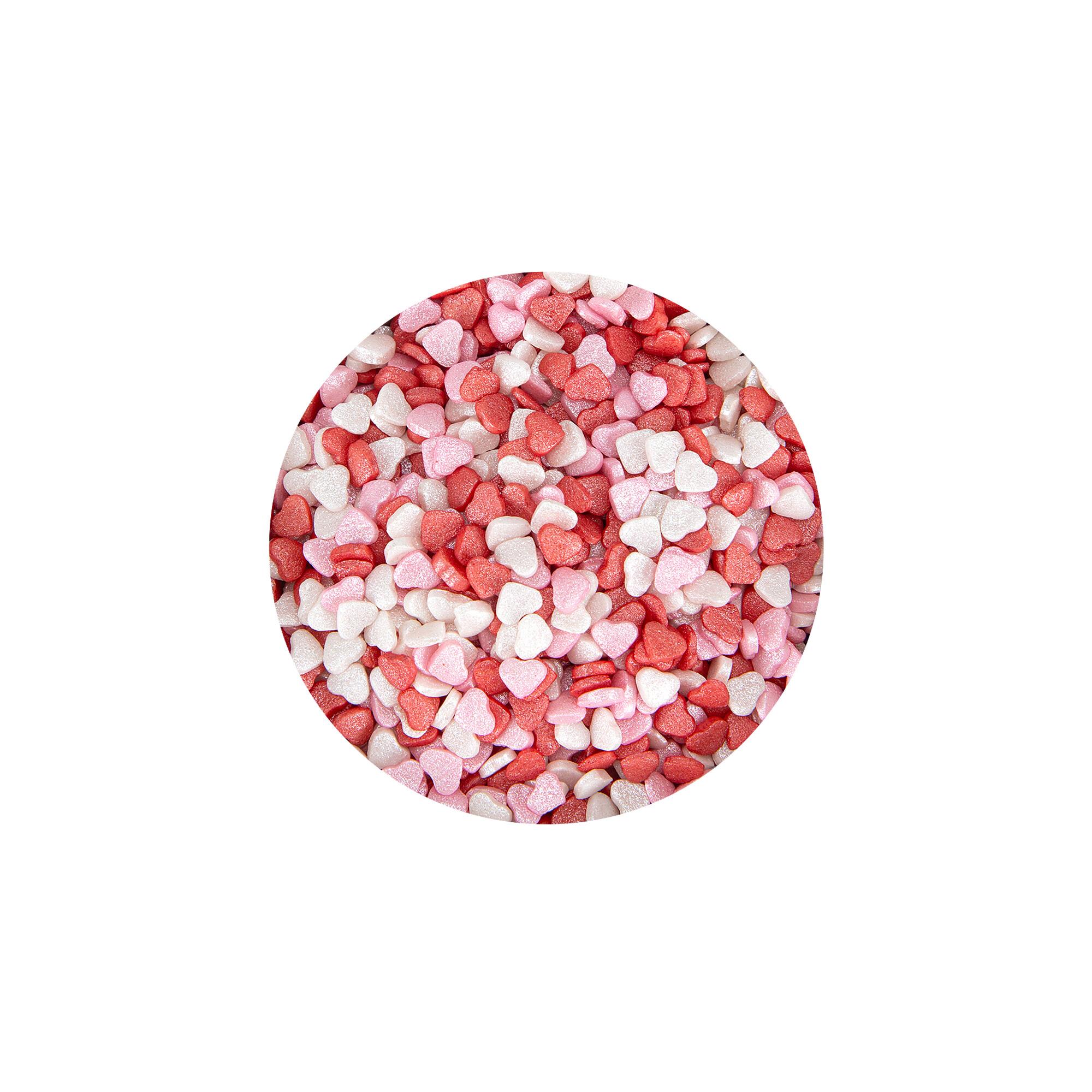 Edible sprinkle decoration - Hearts Mini