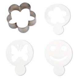 Plätzchen-Deko - Blume - Set, 4-teilig