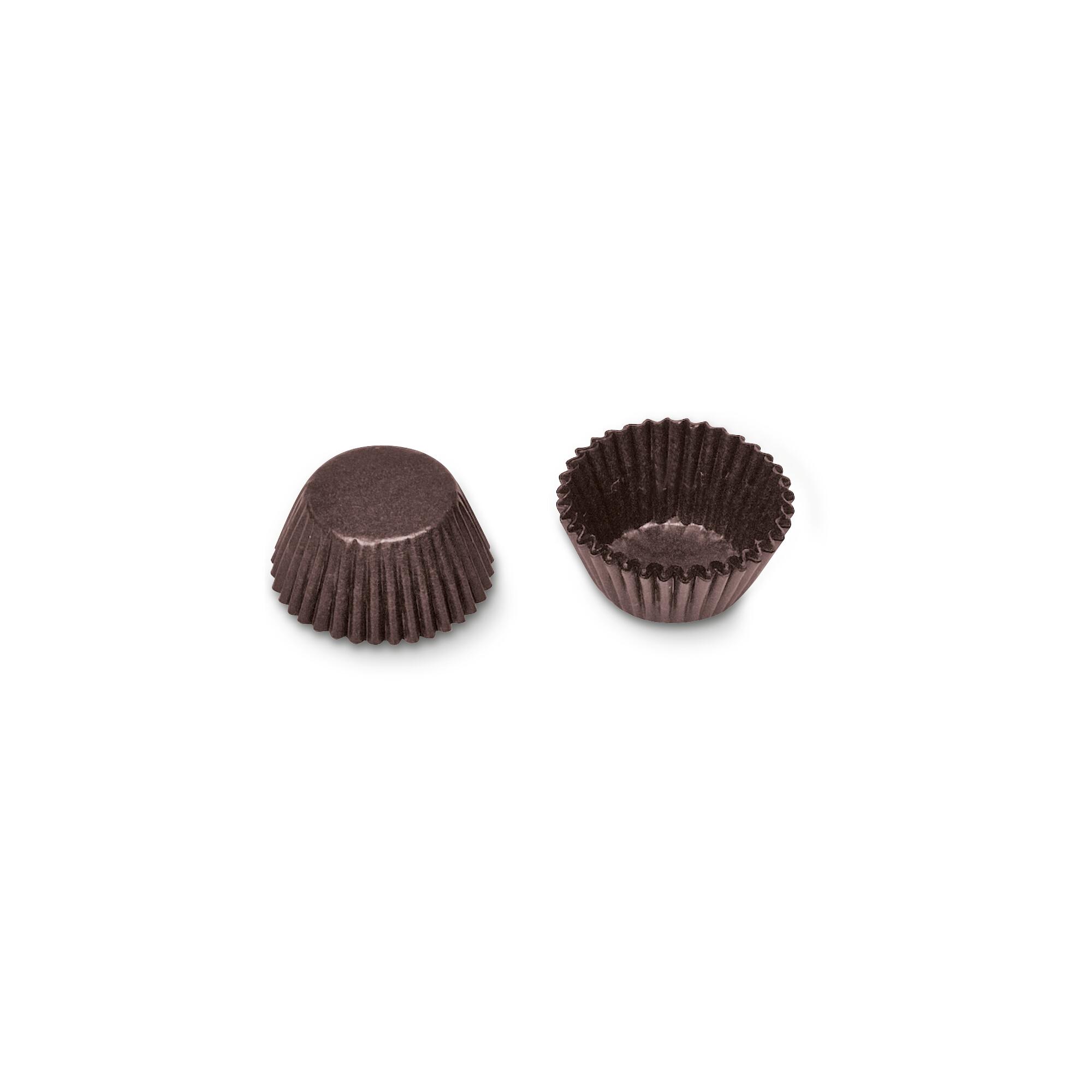 Papier-Backförmchen - Braun - für Muffin-Konfekt - 100 Stück