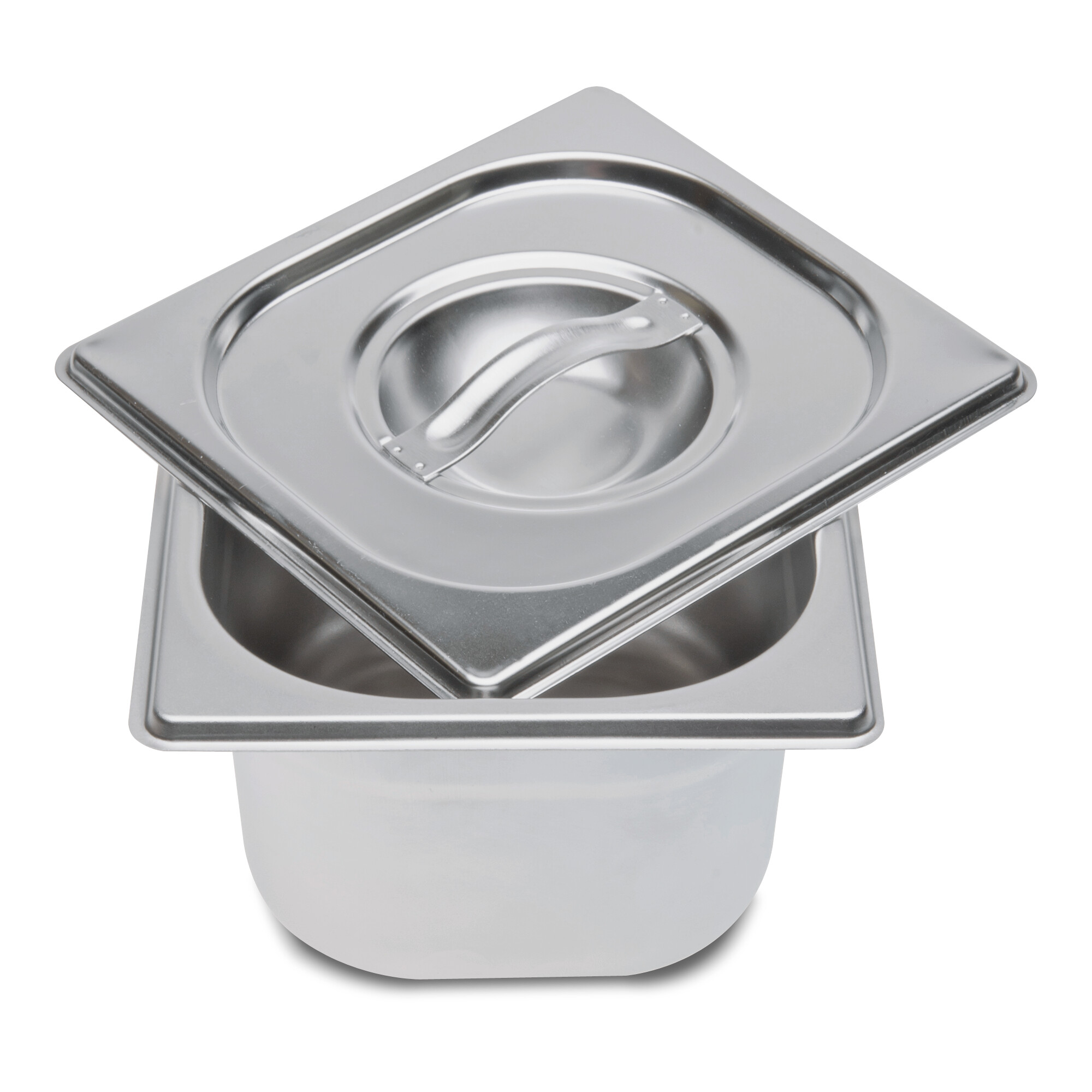 Stainless steel container - with lid