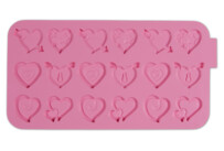 Chocolate mould - Hearts - Silicone