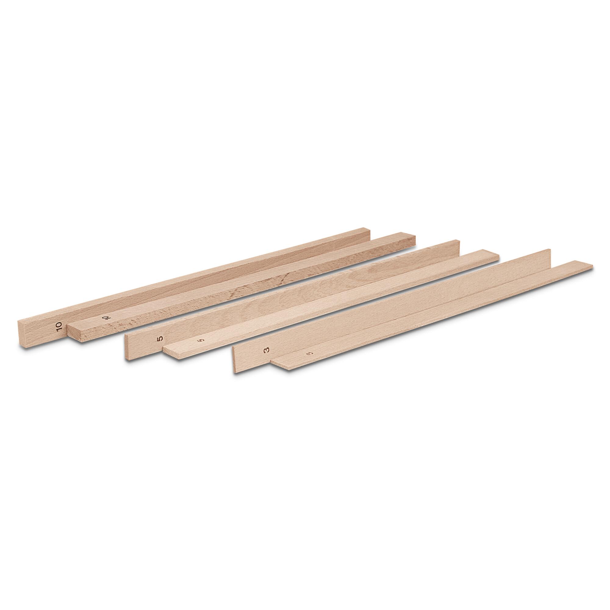 Rolling out sticks - Set, 6 parts