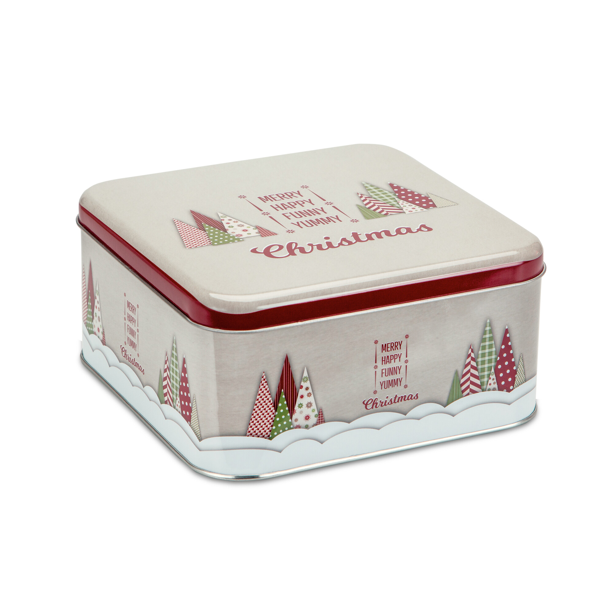 Gebäckdose - Yummy Christmas - Quadratisch
