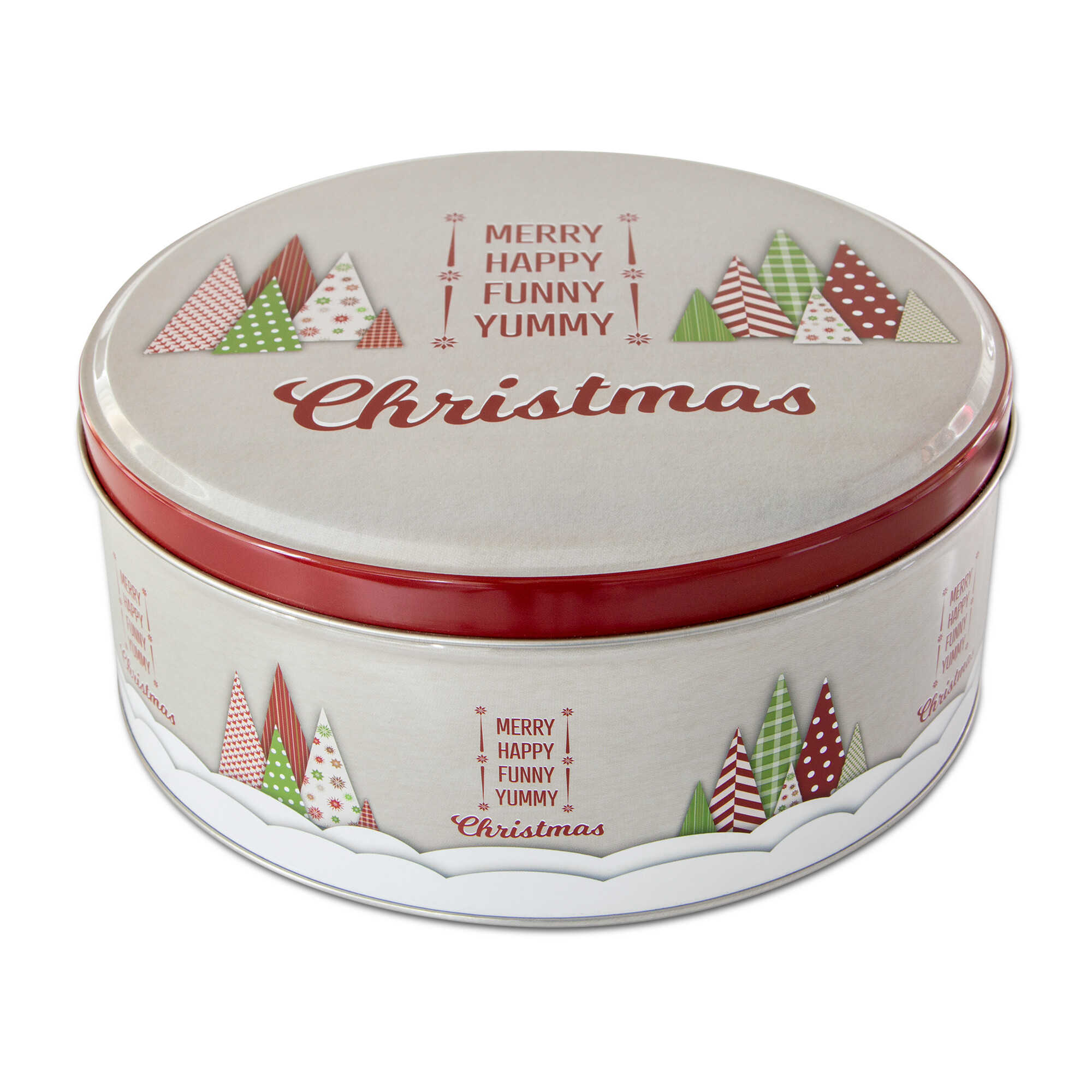 Gebäckdose - Yummy Christmas - Rund