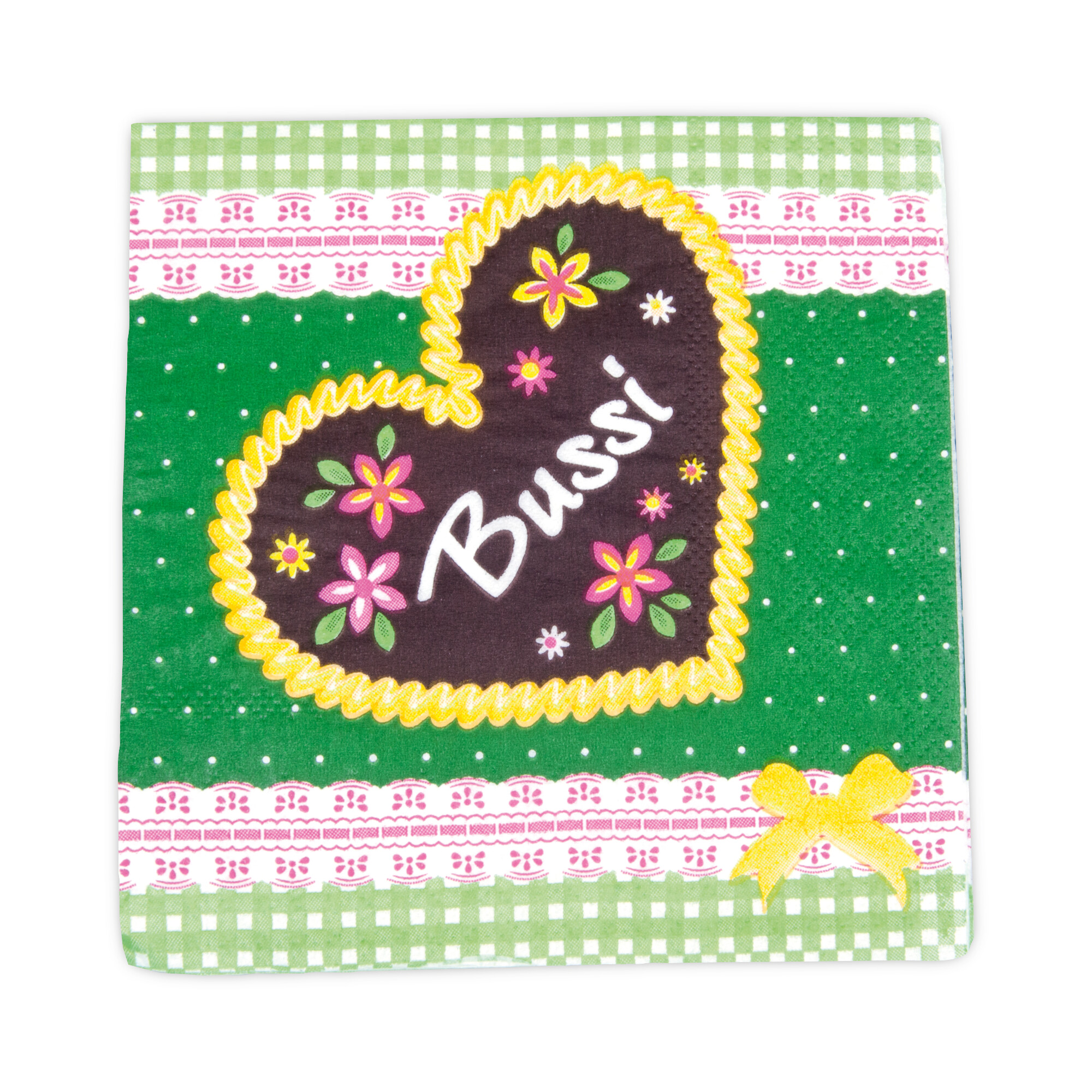 Party and cocktail napkins - Bussi / Kiss - 20 pieces