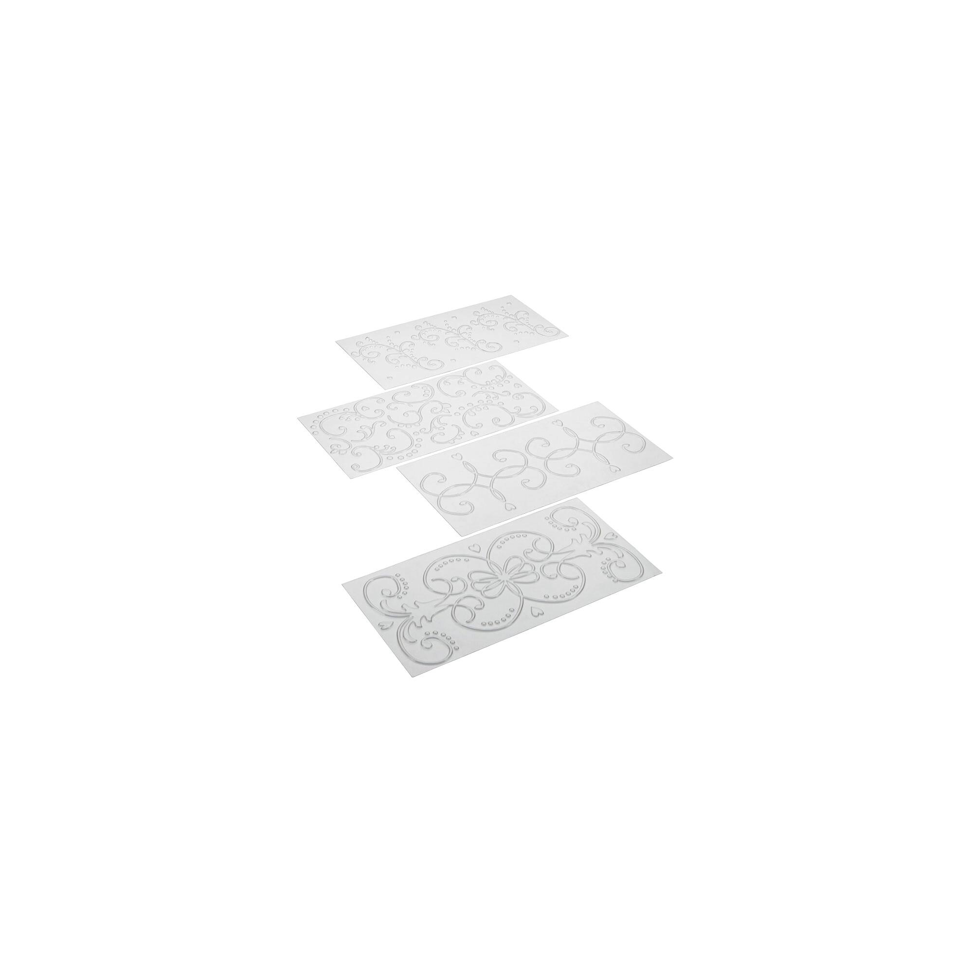 Struktur- und Prägematte - Ornament - Set, 4-teilig