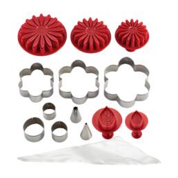 Decoration set - Flower - 25 parts