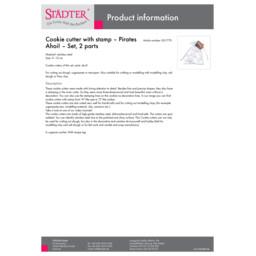001770_staedter_en.pdf Präge-Ausstecher - Piraten Ahoi! - Set, 2-teilig 001770