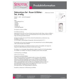001268_staedter_de.pdf Dekorations-Set - Rosen & Blätter - Set, 6-teilig 001268