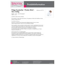 001770_staedter_de.pdf Präge-Ausstecher - Piraten Ahoi! - Set, 2-teilig 001770