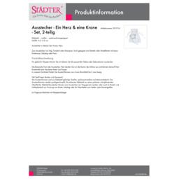 001916_staedter_de.pdf Ausstecher - Ein Herz & eine Krone - Set, 2-teilig 001916
