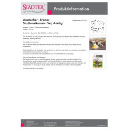 002104_staedter_de.pdf Ausstecher - Bremer Stadtmusikanten - Set, 4-teilig 002104