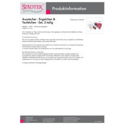 000582_staedter_de.pdf Ausstecher - Engelchen & Teufelchen - Set, 2-teilig 000582